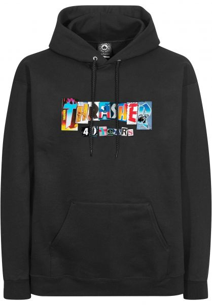 Thrasher Hoodies 40 Years black vorderansicht 0446462