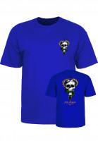 Powell-Peralta-T-Shirts-Mc-Gill-Skull-Snake-royalblue-Vorderansicht