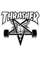 Thrasher-Verschiedenes-Skategoat-Board-Sticker-black-Vorderansicht