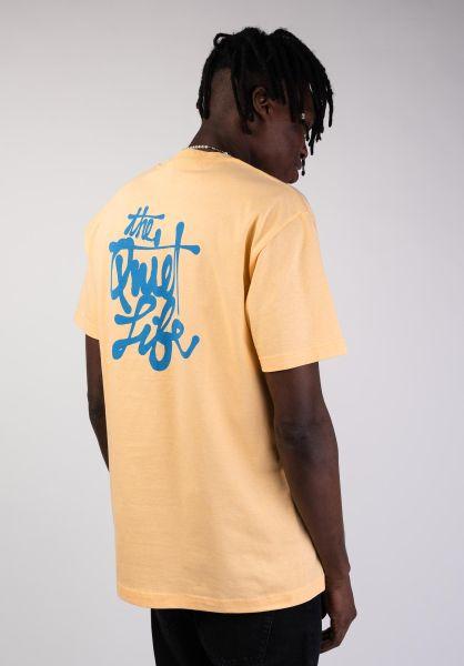 59bbeff5a5 The Quiet Life T-Shirts Cody Script squash vorderansicht 0399789