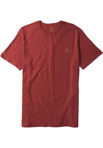 Habitat T-Shirts Harper Cardinal Embroidered red-heather vorderansicht 0399718
