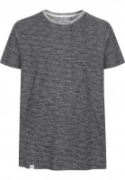 Reell-T-Shirts-Curved-darkgreymelange-Vorderansicht