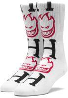 HUF Socken x Spitfire Bighead H Socks white Vorderansicht 0631592