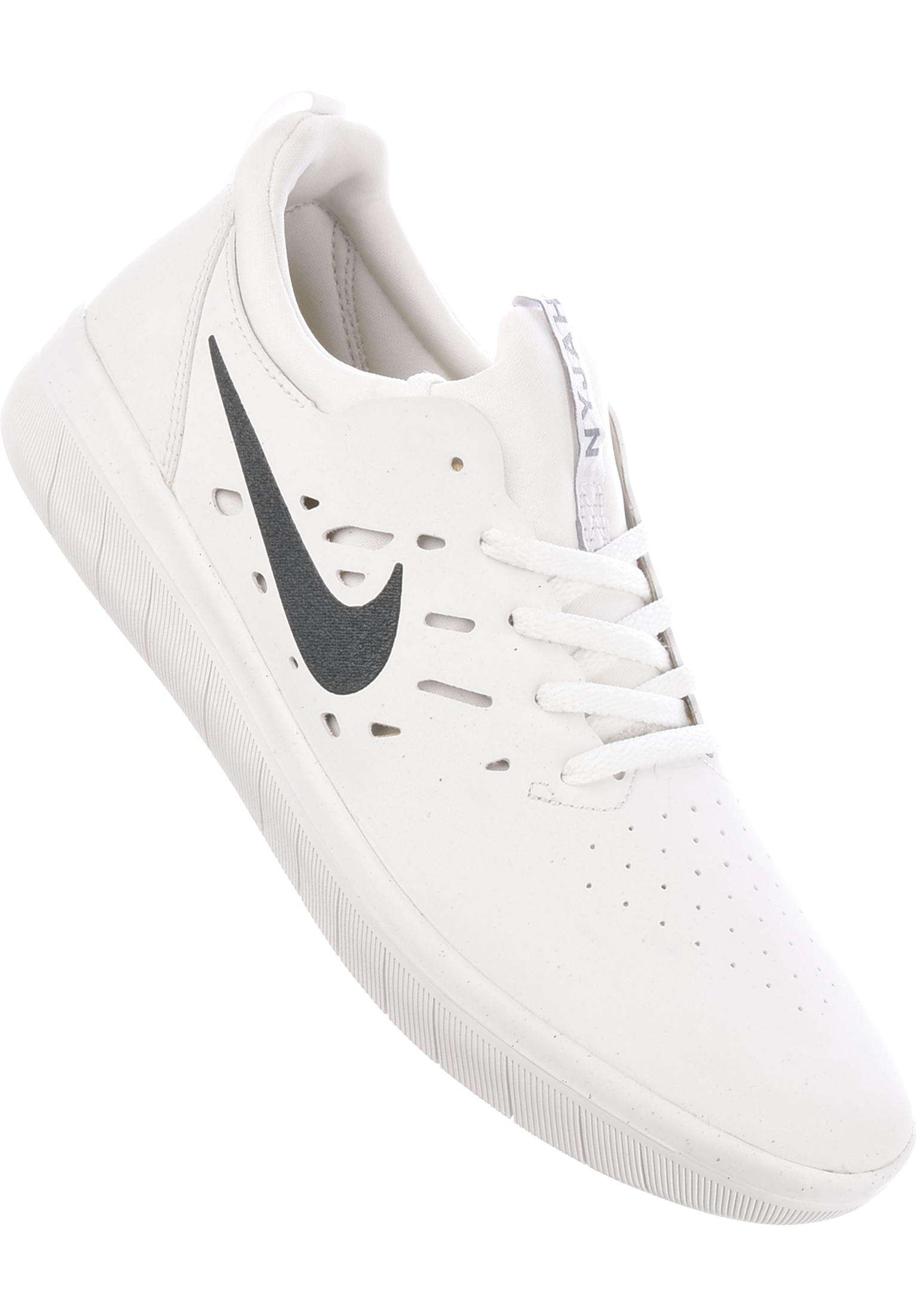 first rate 08aa7 7e240 Nyjah Free Skateboarding Nike SB Alle Schoenen in summitwhite-anthracite  voor Heren   Titus