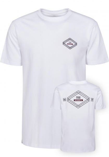 TITUS T-Shirts Diamond Backprint white Vorderansicht