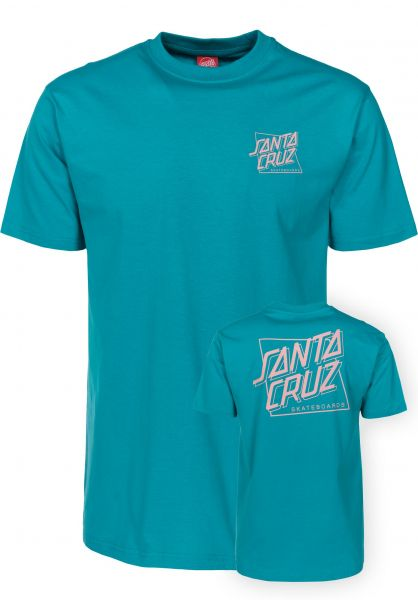 Santa-Cruz T-Shirts SC Square lakeblue Vorderansicht