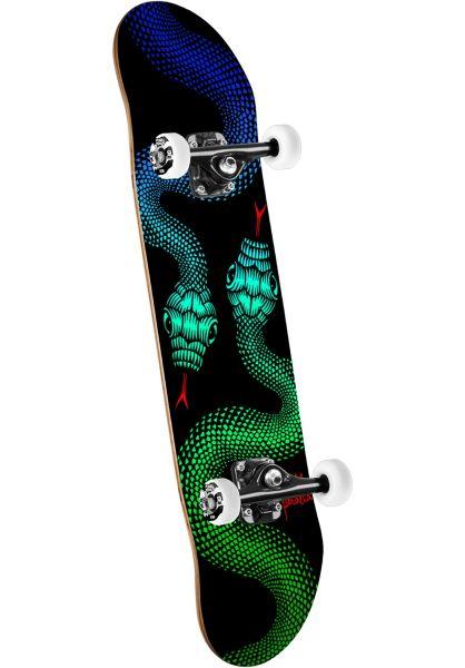 Powell-Peralta Skateboard komplett Snakes black Vorderansicht 0161505