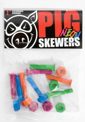 """Pig 1""""-Kreuz Neon Skewers"""