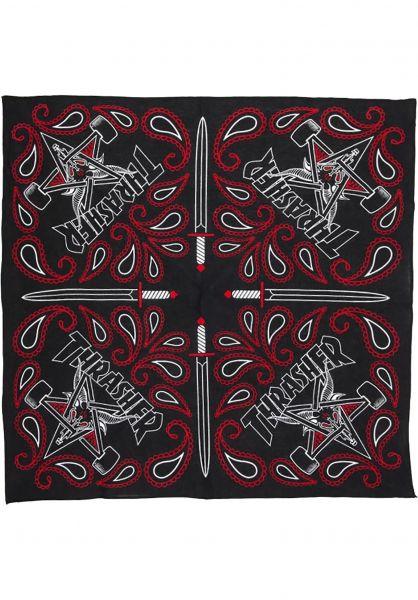 Thrasher Verschiedenes Skate Goat Bandana black-red vorderansicht 0972714