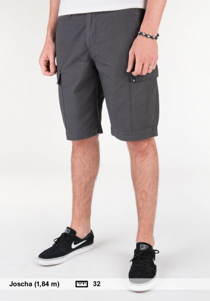Element Shorts Legion Cargo II asphalt Vorderansicht
