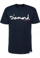Diamond T-Shirts OG Script navy Vorderansicht