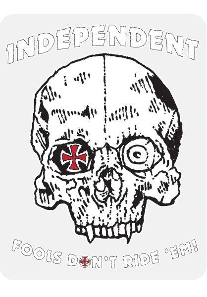 Independent Verschiedenes Fools Don't Ride 'Em white-red-black vorderansicht 0972267
