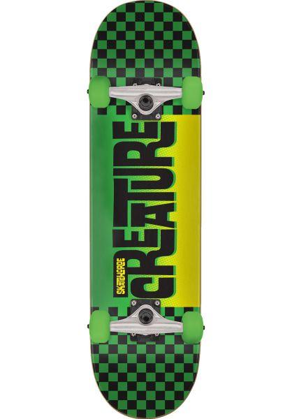 Creature Skateboard komplett Kustom Checker Mini black-green vorderansicht 0260461
