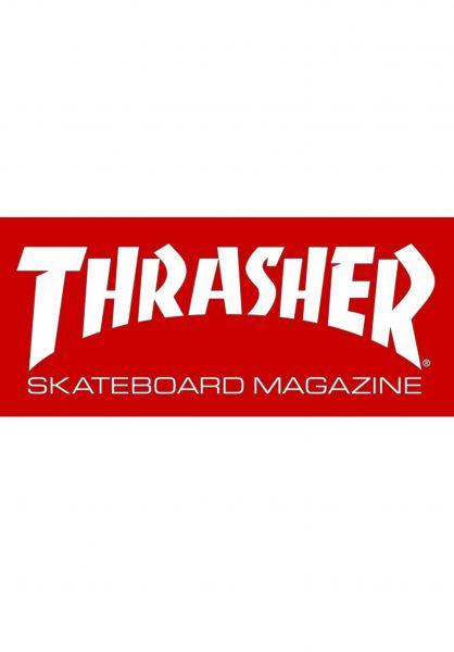 6986046c0fdd Thrasher Verschiedenes Skate Mag Medium Sticker red Vorderansicht