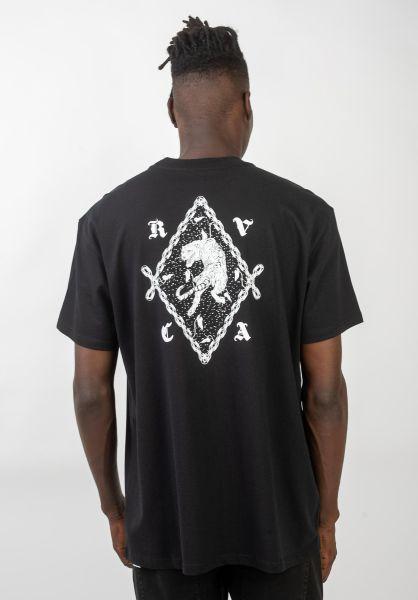 RVCA T-Shirts RVCA Tiger black vorderansicht 0320558