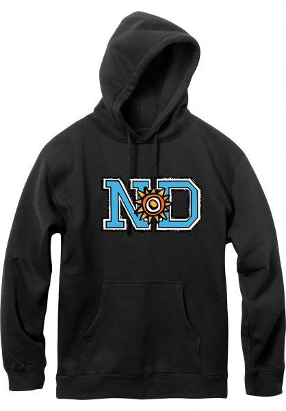 New-Deal Hoodies N*D black vorderansicht 0322086