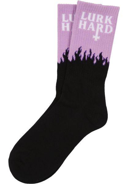Lurk Hard Socken Flame violet vorderansicht 0631671