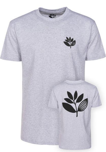 Magenta T-Shirts Plant heathergrey vorderansicht 0372988