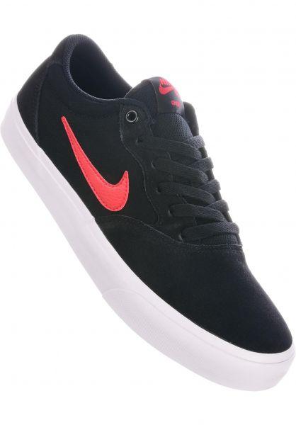 Nike SB Alle Schuhe Chron Solarsoft black-universityred vorderansicht 0604588