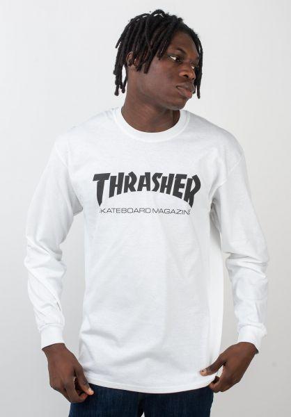 Thrasher Longsleeves Skate-Mag L/S white vorderansicht 0038356