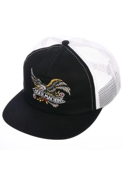 Loser-Machine Caps Poway black-white vorderansicht 0566238