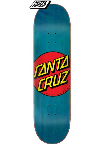 Santa-Cruz Skateboard Decks Classic Dot FA20 blue vorderansicht 0264427
