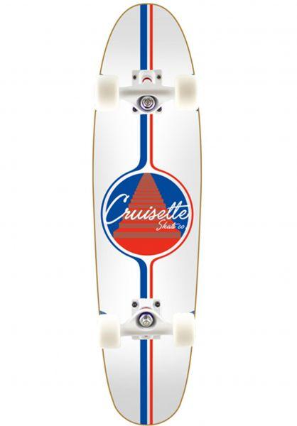 Cruisette Skate Co. Cruiser komplett Monte Carlo white vorderansicht 0252512