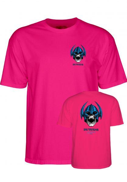 Powell-Peralta T-Shirts Welinder Nordic Skull hot-pink Vorderansicht