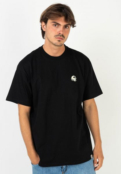 Carhartt WIP T-Shirts Scorpions C black-wax vorderansicht 0322387