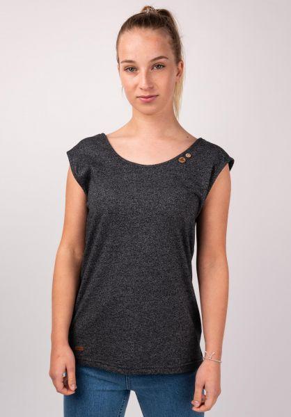 Ragwear T-Shirts Sofia black vorderansicht 0399360