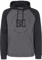 DC Shoes Hoodies Rebuilt Raglan black-charcoalheather Vorderansicht