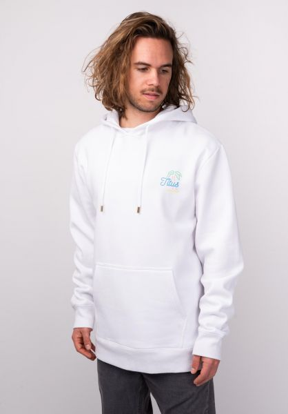 TITUS Hoodies Neon-Backprint white vorderansicht 0444861