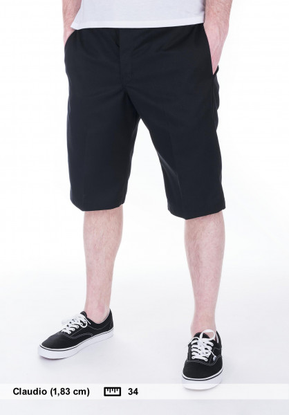 d0f3b09f3fedf Dickies Chinoshorts 13   Slim Fit Work Short black Vorderansicht