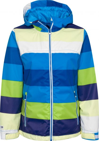 Rehall Snowboardjacken Grace-11-bluestripe blue-striped Vorderansicht