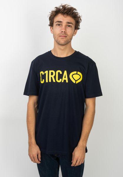 C1RCA T-Shirts Din Icon navy-yellow vorderansicht 0390692