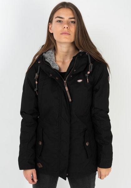 Ragwear Winterjacken Monade black 320 vorderansicht 0250086