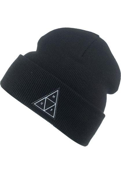 HUF Mützen Triple Triangle Cuff black vorderansicht 0572497
