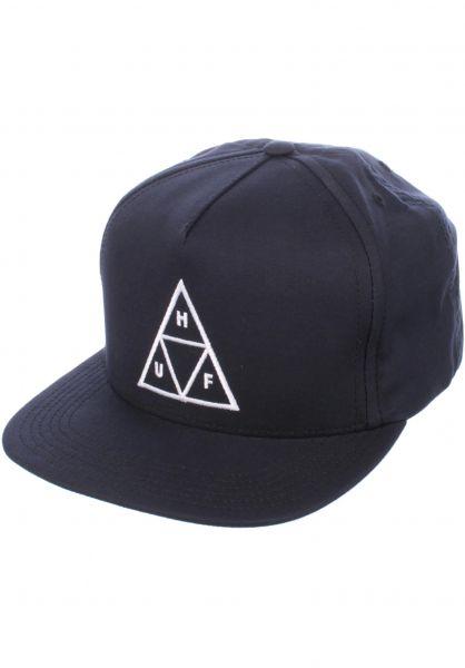 HUF Caps Triple Triangle Snapback navy Vorderansicht