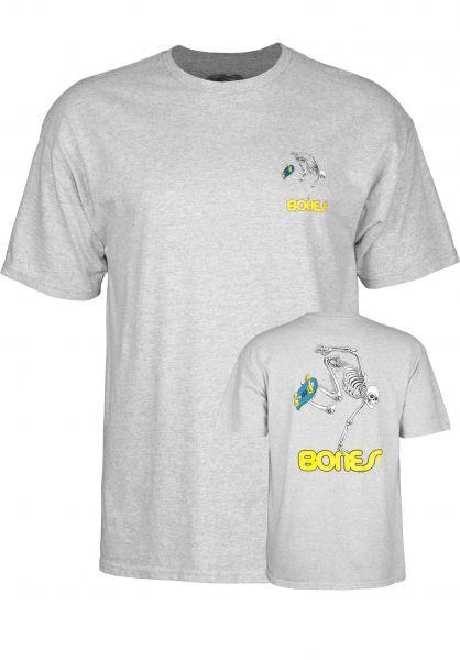 Powell-Peralta T-Shirts Skateboard Skeleton greymottled Vorderansicht