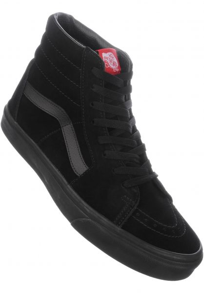 vans skate high all black