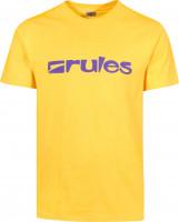 Rules T-Shirts Basic yellow Vorderansicht