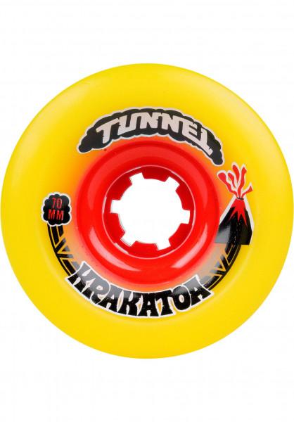 Tunnel Rollen Krakatoa 84A yellow Vorderansicht