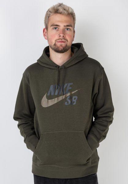 Nike SB Hoodies SB Icon cargokhaki-yukonbrown vorderansicht 0444154