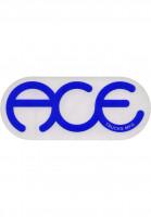 Ace-Verschiedenes-Rings-Logo-Sticker-6-clear-blue-Vorderansicht