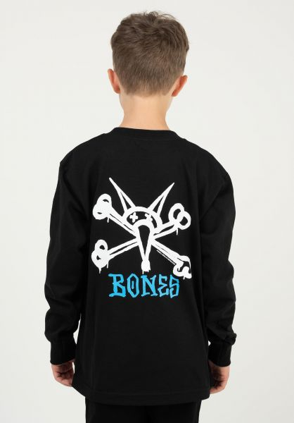 Powell-Peralta Longsleeves Rat Bones Kids black vorderansicht 0382831