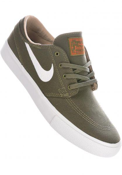 Nike SB Alle Schuhe Zoom Stefan Janoski CNVS RM mediumolive-white vorderansicht 0604616
