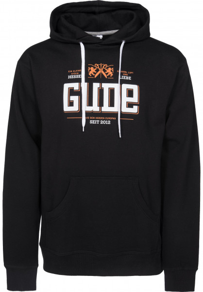 GUDE Hoodies Fashion Luft Liebe black Vorderansicht