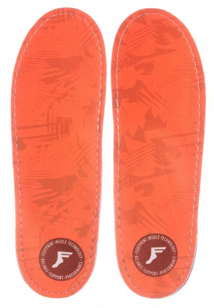 Footprint Insoles Einlegesohlen King Foam Orthotics Camo orange vorderansicht 0249116