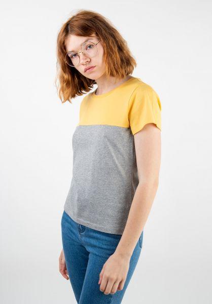 Forvert T-Shirts Emer yellow/light grey melange vorderansicht 0320104