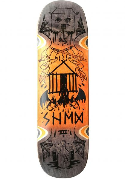 Creature Skateboard Decks Hitz Zero Fucks Given SLED orange vorderansicht 0261875